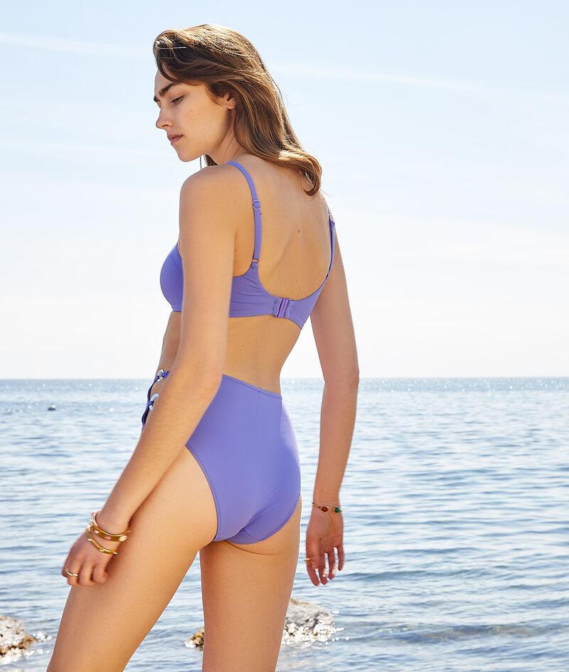 Bikiniunterteil mit hoher Taille und Schnallen;${refinementColor}