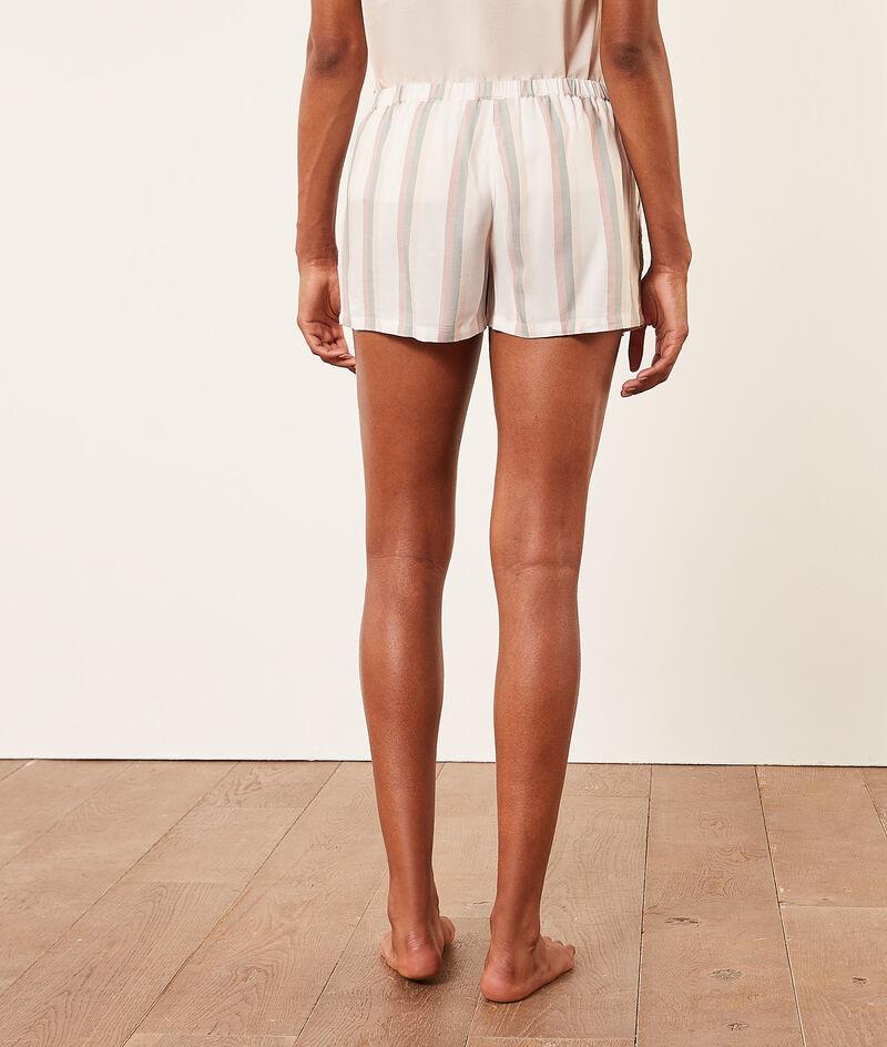 Gestreifte Pyjama-Shorts;${refinementColor}