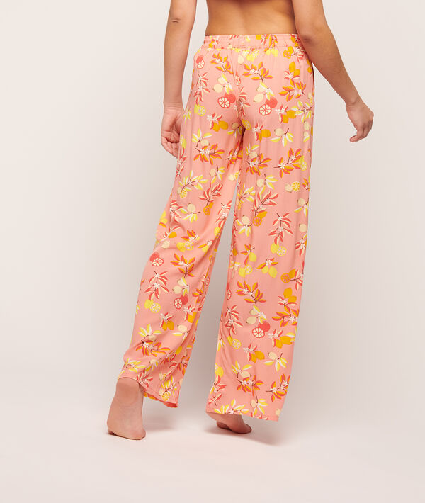 Pantalon imprimé fleuri;${refinementColor}
