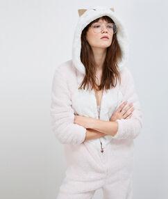 Combinaison pyjama chat pink.