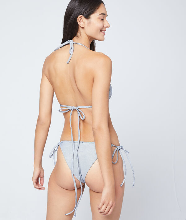Bikiniunterteil zum Binden, strukturiertes Material;${refinementColor}
