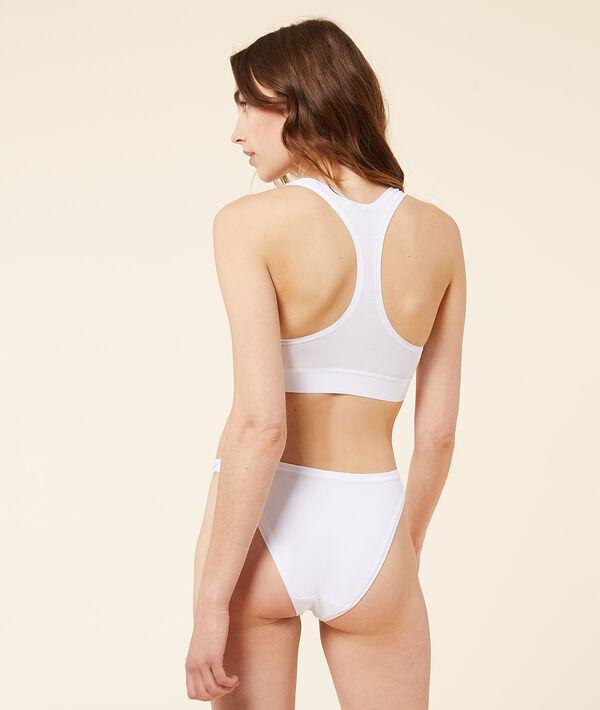 Panty mit hohem Beinausschnitt aus dehnbarer Baumwolle;${refinementColor}