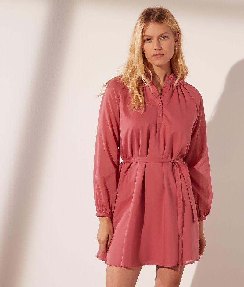 Robe courte avec ceinture en coton