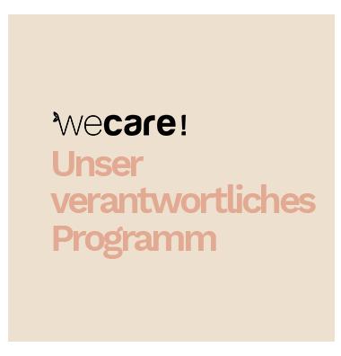 Unsere We Care Programm