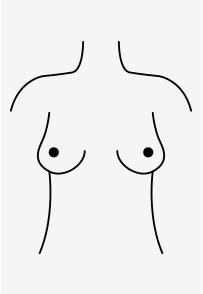 Mandarinen-förmige Brüste