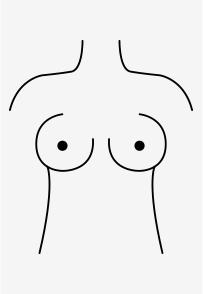 Äpfel-förmige Brüste